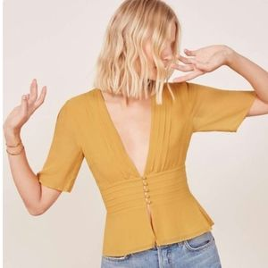 NWT Reformation Noah Top - Ginger
